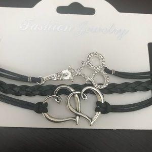 Jewelry - 3 Black rope hair stylist scissor bling bracelets